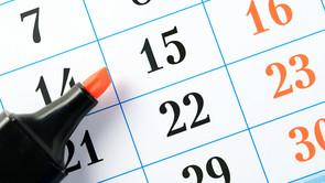 Sæt kryds i kalenderen!
