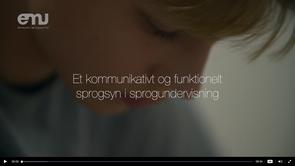 Det kommunikative og funktionelle sprogsyn (video på EMU)