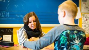 Cafémøde på pædagoguddannelsen i Nykøbing Falster