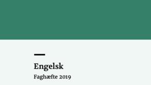 Læseplan, vejledning og faghæfte til faget engelsk