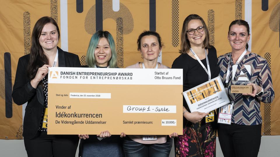 Studerende vinder Idékonkurrence ved Danish Entrepreneurship Award 2018