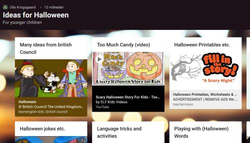 Padlet: Ideas for Halloween - For younger children
