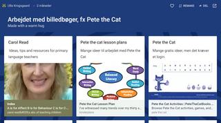 Padlet: Arbejdet med billedbøger, fx Pete the Cat