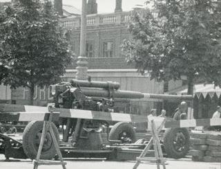 Tysk kanon på Vesterbrogade, København. Frihedsmuseets fotoarkiv